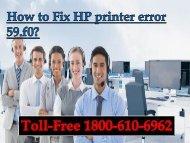 How to Fix HP printer error 59.f0