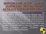 Norton.com/setup – Install Norton – Norton Support