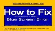 Steps Fix Norton Blue Screen Error @ 1-800-658-7602
