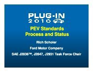 PEV Standards Process and Status