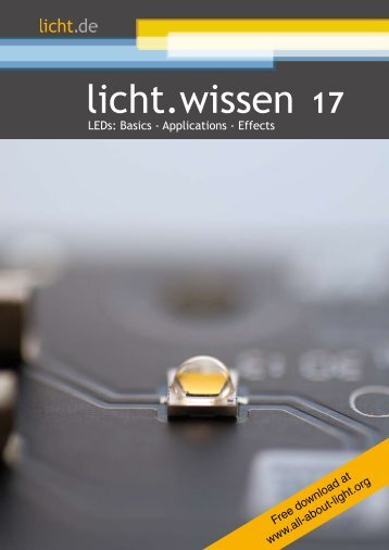 "licht.wissen 17 No. ""LEDs: Basics - Applications - Effects"""