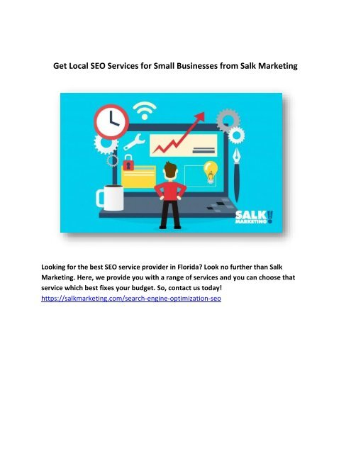 Get Local SEO Services for Small Businesses from Salk