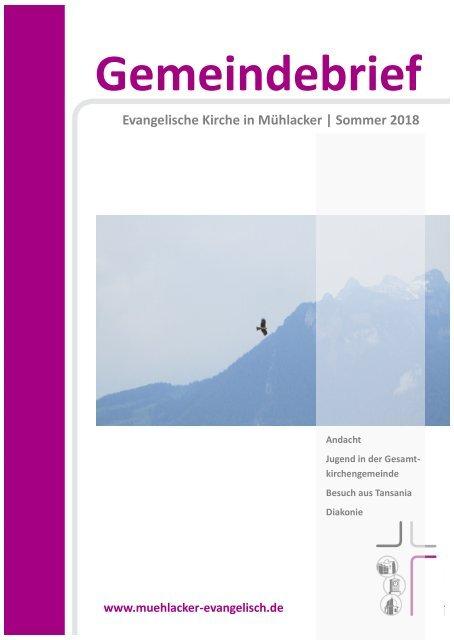 Gemeindebrief Fruehjahr Sommer2018