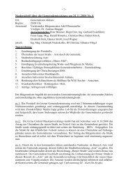Niederschrift über die Gemeinderatssitzung am ... - Gemeinde Aldrans