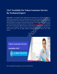 Yahoo Customer Service Number – Help via Experienced Professionals