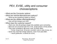PEV, EVSE, utility and consumer h i / ti choices/options