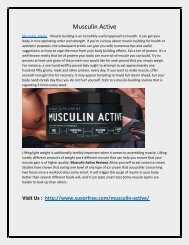 Increase YOur Motivation Level with Musculin Active
