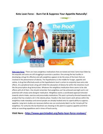 Keto Lean Force -  Burn Fat & Suppress Your Appetite Naturally!