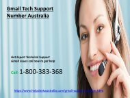 Gmail Support Phone 1-800-383-368 Number Australia- For Tech Help