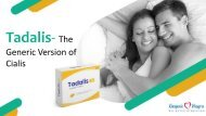 Tadalis-The Generic Version of Cialis