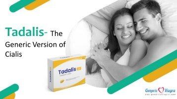 Tadalis-The Generic Version of Cialis