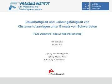 Dauerhaftigkeit und Leistungsfähigkeit von ... - FZK
