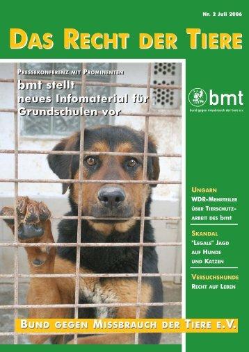 RDT 2/2006 - Bund gegen Missbrauch der Tiere ev
