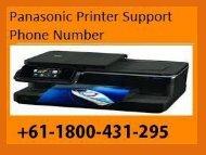 Panasonic Printer Support Number +61-1800-431-295
