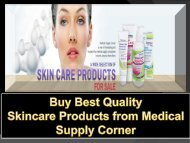 Buy Best Quality Skincare Products from Medical Supply Corner