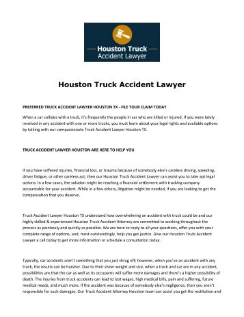 Houstan Truck Accident Lawyer