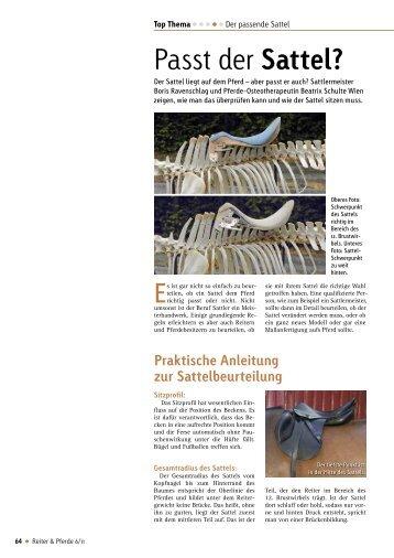 Passt der Sattel? - Deutsches Institut für Pferdeosteopathie