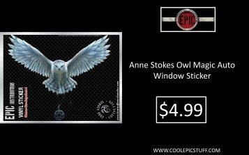 Anne Stokes Owl Magic Auto Window Sticker - Epic Vision LLC