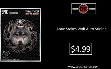 Anne Stokes Wolf Auto Sticker