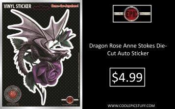 Dragon Rose Anne Stokes Die-Cut Auto Sticker - Epic Vision LLC