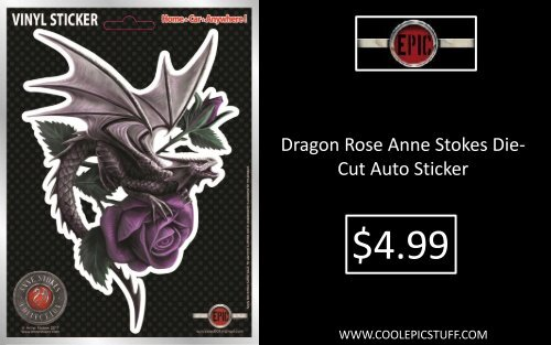 Dragon Girl Auto Sticker by Anne Stokes