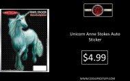 Unicorn Anne Stokes Auto Sticker - Epic Vision LLC