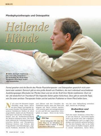 Heilende Hände - Deutsches Institut für Pferdeosteopathie