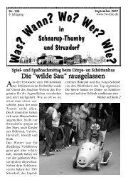 September 2007 - Wann? Wo? Wer? Wie? in Schnarup-Thumby