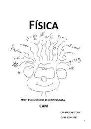 FÍSICA  EL MOVIMENT I FORCES CAM 2016-2017