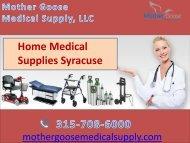 Home Medical Supplies Syracuse-Choose MG Medical Supply