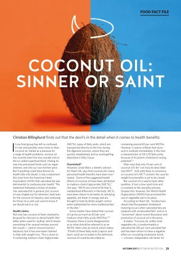 Coconut Oil Sinner or Saint
