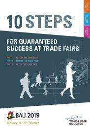 BAU 2019 // 10 steps for guaranteed success at trade fairs