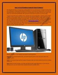 How To Fix HP Desktop Computer Power Problems.docx