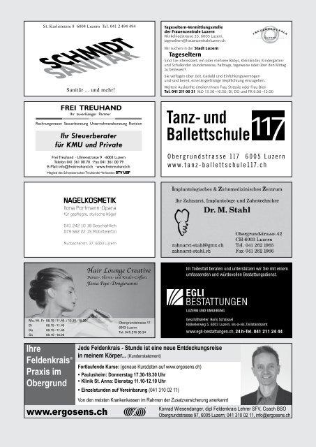 Quartierzeitung, Nr. 99-2012 - Obergrund