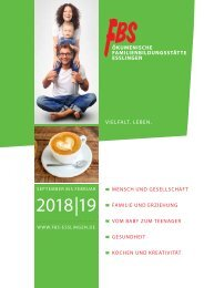 Programm der FBS Esslingen 2018/19