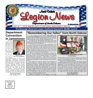 North Dakota - The American Legion
