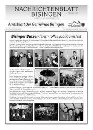 Bisinger Butzen feiern tolles Jubiläumsfest - Gemeinde Bisingen