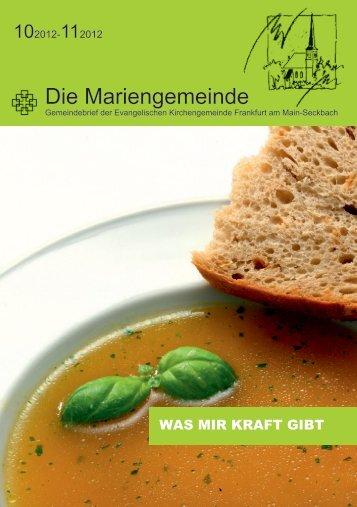 Gemeindebrief Oktober/November 2012 - Ev. Marienkirche in ...