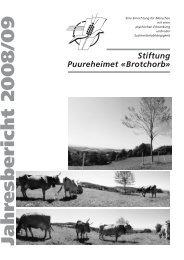 Jahresbericht 2008 /09 - Stiftung Puureheimet Brotchorb