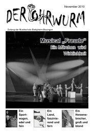 """Musical """"Freude"""" - in Bietigheim-Bissingen"""