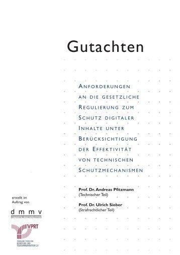 Gutachten (PDF) - Professur Datenschutz und Datensicherheit ...