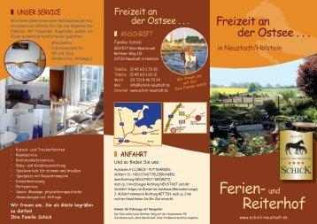 Ferien-und Reiterhof - Familie Schick