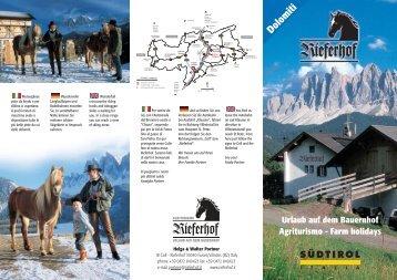 Urlaub auf dem Bauernhof Agriturismo - Rieferhof