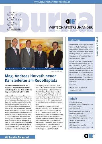 Mag. Andreas Horvath neuer Kanzleileiter am Rudolfsplatz