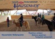 Hausenhofer Reitprogramm - Dorfgemeinschaft Hausenhof