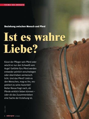 Ist es wahre Liebe? - Reiter Revue International