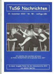 20. Dezember 2010 - Nr'. 58 - Auflage 650