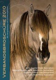 Verbandsbroschüre 2010 - Swiss Paint Horse Association