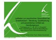Leitfaden zur psychischen Gesundheit bei Erwerbslosen ... - LIA.NRW