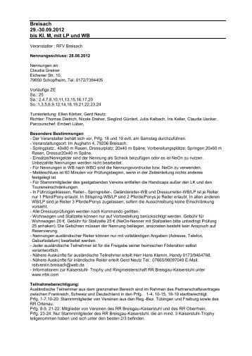 Breisach 29.-30.09.2012 bis Kl. M, mit LP und WB - greiner edv ...